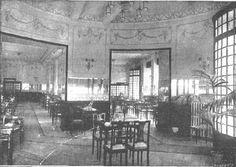 Salón de la rotonda de la Casa Molinero en la Gran Vía de Madrid. 20 de Octubre de 1917
