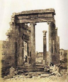 Erectéion en la Acrópolis. 1854