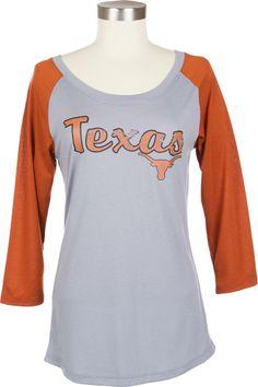 Ladies 3/4 Sleeve Texas Dugout T-Shirt