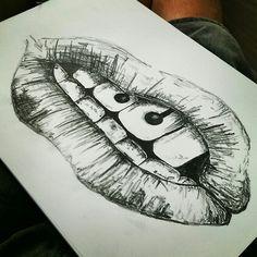 Black & White Lips