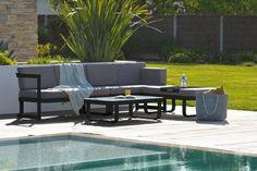 Miami Ensemble De Jardin En Aluminium 8 Places Table Extensible