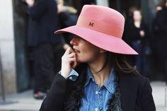 street style-Still crushing on this Maison Michel hat...