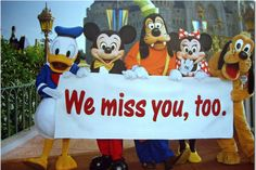 WE MISS YOU MORE...