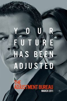 Adjustment bureau, Again one of those films that you get sunk in, Again that is if you don't watch previews and read about movies, you loose all the culminating moments...DONT WATCH PREVIEWS !!!