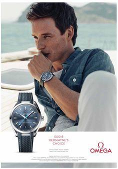Eddie Redmayne chooses Omega Seamaster Aqua Terra Master Chronometer watch