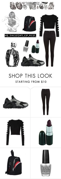 """""""on wendsday's we wear black"""" by bobglitter ❤ liked on Polyvore featuring moda, NIKE, Levi's, Cushnie Et Ochs e Morn Creations"""