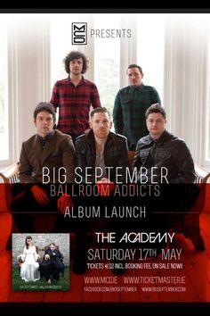 The Life of Stuff   Personal and Irish Lifestyle Blog: Big September Album Launch Ballroom Addicts Listen of the Week   Big September, Ballr...