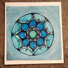 Hand painted mandala greeting card by PrimalPulseDesigns on Etsy Beach Mat, Mandala, Outdoor Blanket, My Etsy Shop, Greeting Cards, Hand Painted, Pictures, Painting, Photos