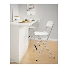 Bar stools FRANKLIN Bar stool with backrest foldable IKEA You can fold the chairs so they take less space when youu0027re not using them.  sc 1 st  Pinterest & FRANKLIN Bar stool with backrest foldable - white/silver color 24 ...