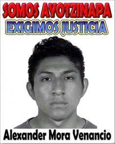 Encuentran restos de uno de los normalistas desaparecidos en Cocula. La víctima fue identificada como Alexander Mora Venancio, de 19 años.