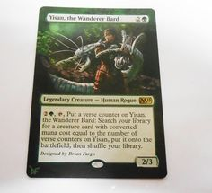 MTG Altered Painted Yisan the wanderer Bard M15 #WizardsoftheCoast
