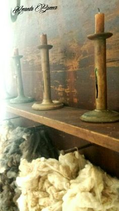 Candles and wool