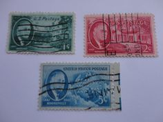 1c, 2c, 5c 1882-1945 Roosevelt Old 1945-1947 U.S. Postage Stamp.