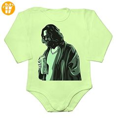 The Dude Standing Baby Long Sleeve Romper Bodysuit Medium - Baby bodys baby einteiler baby stampler (*Partner-Link)