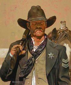 Lawman by Bill Moomey Oil ~ 35 x 30 O Cowboy, Western Cowboy, Real Cowboys, Cowboys And Indians, Western Film, Westerns, Old West, He Man Tattoo, Character Art