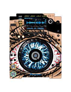 Pioneer CDJ 2000 Remix Art Contest Djs love art too and artists love music. Pioneer Cdj 2000, Pioneer Dj, Dj Electro, Dj Remix, Dj Equipment, Love Art, Turntable, Techno, Skate