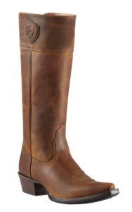 Ariat Chandler Women's Distressed Brown Tall Top Snip X-Toe Western Boots   Cavender's