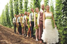 In the Bines: Host Your Wedding Amid Hop Vines | Bridal and Wedding Planning Resource for Oregon Weddings | Oregon Bride Magazine