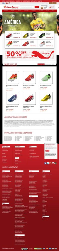 Make sure to visit aztecasoccer.com for all your soccer needs including soccer shoes, soccer jerseys, soccer equipment, soccer balls and soccer apparel.