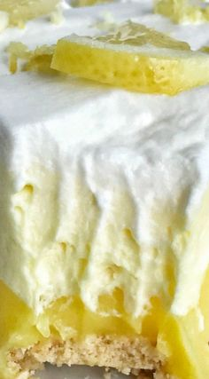(no bake) Triple Layer Lemon Pudding Pie ~  Easy & simple... You only need 5 ingredients for a sweet and creamy lemon pudding pie that is no bake and so simple to make.