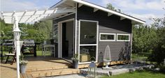 Olotar Lumo -pihahuone Art Shed, Cubbies, Play Houses, Summer 2015, Garage Doors, Cottage, Exterior, Patio, Outdoor Decor