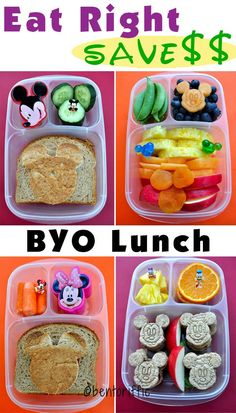 How to eat healthy food and save money at theme parks or while traveling. Lunchbox ideas for the family. Teske Goldsworthy Lester / EasyLunchboxes diet plan for picky eaters Disneyland Vacation, Disney Vacations, Disney Trips, Healthy Foods To Eat, Healthy Eating, Lunch On A Budget, Disney Food, Walt Disney, Disney Snacks