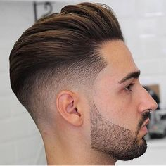Men's Toupee Human Hair Hairpieces for Men inch Thin Skin Hair Replacement System Monofilament Net Base ( New Men Hairstyles, Undercut Hairstyles, Haircuts For Men, Men's Haircuts, School Hairstyles, Hairstyles 2018, Undercut Fade, Disconnected Undercut, Medium Hair Styles