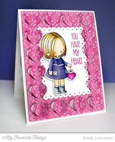 I made this card using new products from My Favorite Things.  Full details can be found [url=http://onehappystamper.typepad.com/stamping_inspirations_wit/2015/01/mft-new-product-launch-you-have-my-heart.html]HERE[/url].