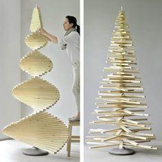 DIY-Weihnachtsbaum aus Holzlatten | Muttis Nähkästchen