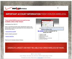 Scammers Replicate Verizon's Email Bill Alerts