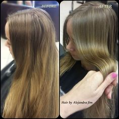 Alejandra Jim Certified Haircolorist — Before/ After inspired . Olaplex Before And After, Beauty P, Blonde Color, Summer Hairstyles, Miami, Long Hair Styles, Inspired, Inspiration, Biblical Inspiration