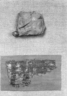 BALaT KIK-IRPA. Leather relic purse, 1301-1500. Saint Catherine's church, Maaseik.
