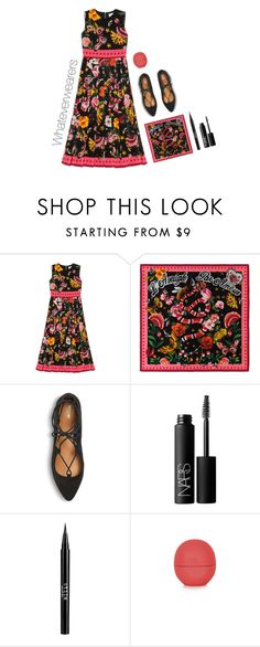 """""""Presenting the Gucci Garden Exclusive Collection: Contest Entry"""" by megsthornton ❤ liked on Polyvore featuring Gucci, Mossimo, NARS Cosmetics, Stila, Topshop and gucci"""