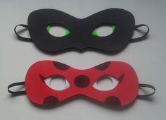 Máscara feita em EVA forrada com feltro e com elástico já colocado.  Fazemos temas dos Vingadores e outros.