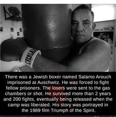 There was a Jewish boxer named Salamo Arouch imprisoned at Auschwitz. He was forced to fight fellow prisoners. The losers were sent to the gas chambers or shot. He survived more than 2 years and 200 fights, eventually being released when the camp was. Disney Princess Facts, Disney Fun Facts, Disney Princesses, Bizarre Facts, Wtf Fun Facts, Crazy Facts, Detective Riddles, Unbelievable Facts, Amazing Facts