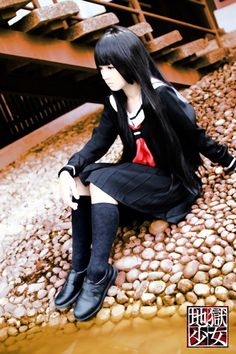 Cosplay of Ai Enma from Hell Girl