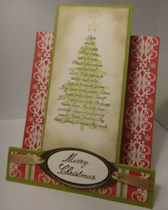 Evergreen Center Step 1 by ChelleSnow - Cards and Paper Crafts at Splitcoaststampers