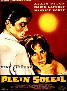 Alain Delon in Plein de Soleil (Purple Noon), remade later as The Talented Mr. Ripley with Matt Damon Gwyneth Paltrow.