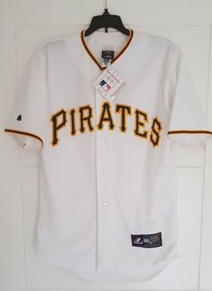 sale retailer 561a4 1786a MAJESTIC PITTSBURGH PIRATES MLB Official Baseball Jersey Shirt Authentic  Men s S  Majestic  PittsburghPirates