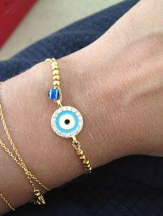 Lucky Evil Eye Bracelet - Delicate everyday jewelry