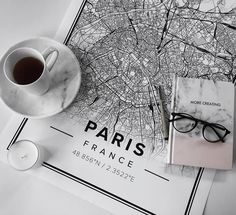 Map poster of Paris, France. Print size 50 x 70 cm. Custom black and white map posters online. Mapiful.com.