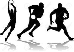 Three Rugby Player Silhouette Royalty Free Cliparts, Vectors, And Stock Illustration. Pic 28138224.