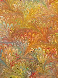 hand marbled #fabric #cotton #marble www.vansantdesigns.etsy.com