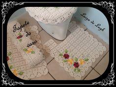 Jogo de Banheiro Crochê - Tapete do vaso #LuizadeLugh