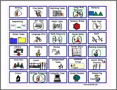 Schedule and Task Cards for a School Setting
