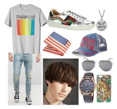 """Casual Oliver"" by process-red on Polyvore featuring ASOS, Gucci, Gap, Yves Saint Laurent, True Religion, Frédérique Constant, men's fashion and menswear"