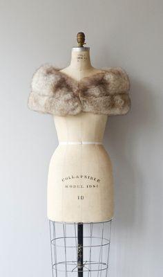 Norwegian fox stole vintage 1950s fox fur stole by DearGolden