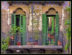 Barcelona Veranda by Cat Man! on Flickr. - Chronicles of a Love Affair with Nature