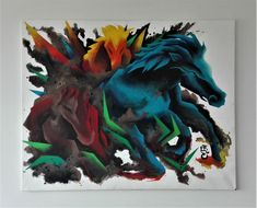Painting Art, Paintings, Cubism, Dark Horse, Drawing, Bunt, Creative, Facebook, Canvas