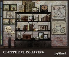 Cleo Living retro clutter for The Sims 4